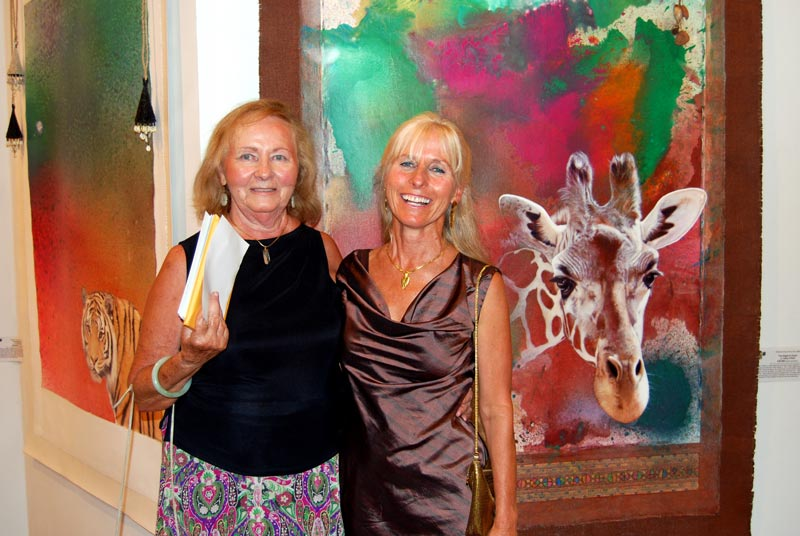 Calley O'Neill with her mom, Anne Tsigounis, who funded Calley's expedition to the Wildlife Artist of the Year Exhibition in London.